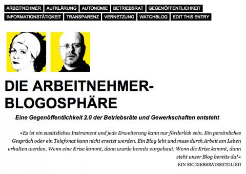 """Buch- und Blogbeitrag """"Die Arbeitnehmer-Blogosphäre"""" von Kathrin Niedermoser und Christian Pischlöger"""